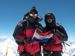 Op de top van de Gasherbrum I (8068m)